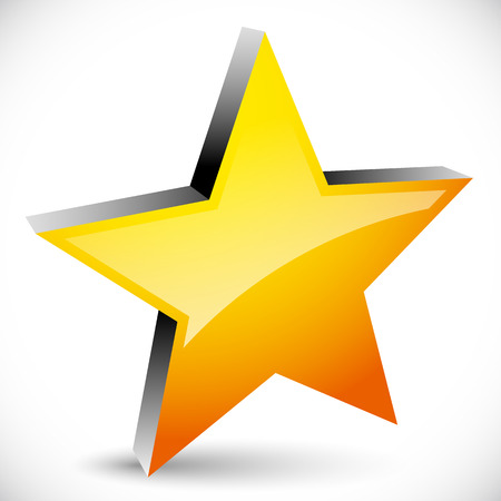 five pointed: Star graphics - Star, favorite Icon, 5-pointed star. Vector Illustration