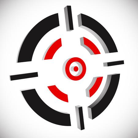 cross armed: Crosshair, reticle vector graphics. Eps 10 vector