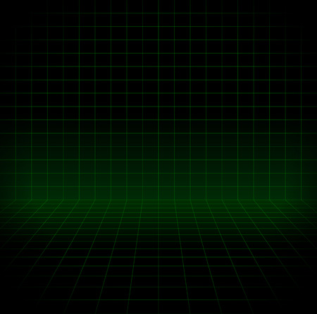 virtual world: Blank space with perspective grid, wire frame for virtual world, cyberspace themes. Stock Photo