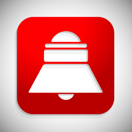 red siren: Red bell, siren icon. Notification, alarm. vector