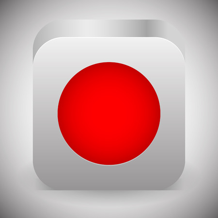 rec: Eps 10 vector illustration of a Record or Rec button Stock Photo