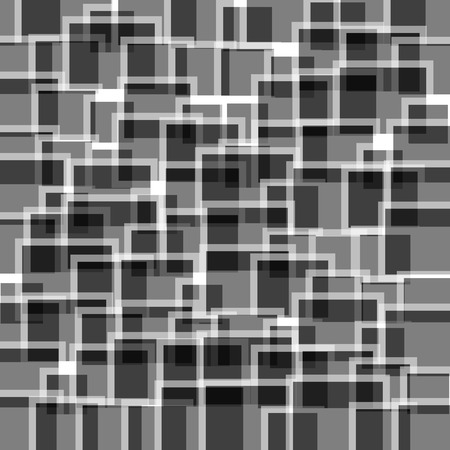 randomness: Random squares abstract pattern, texture. Artistic black and white background.