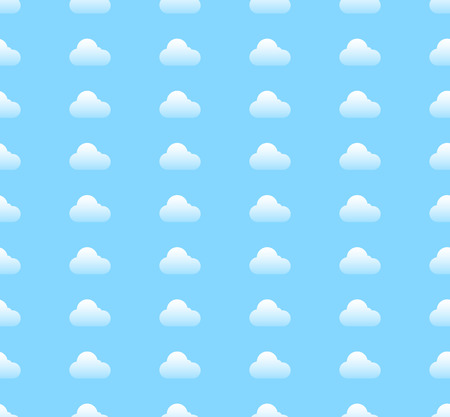 repeatable: Patr�n de nubes repetible en colores azul claro