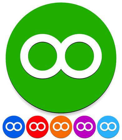 Vector Illustration Of Infinity Symbol For Everlasting Infinite