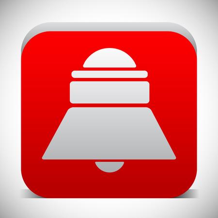 Red bell, siren icon. Notification, alarm. vector