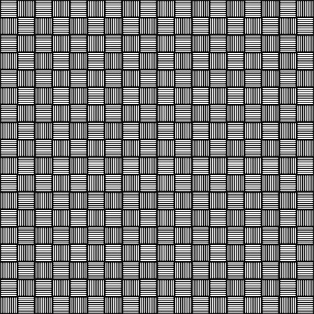 repeatable: Black and white seamless pattern with striped squares (repeatable)