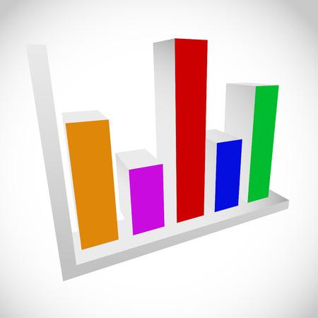 bargraph: 3d Bar chart, bar graph, diagram element.