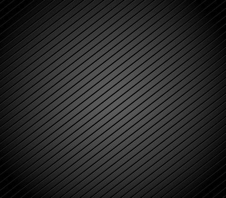 slanting: Carbon fiber background with parallel, slanting lines. Dark, black pattern, background. Vector. Stock Photo