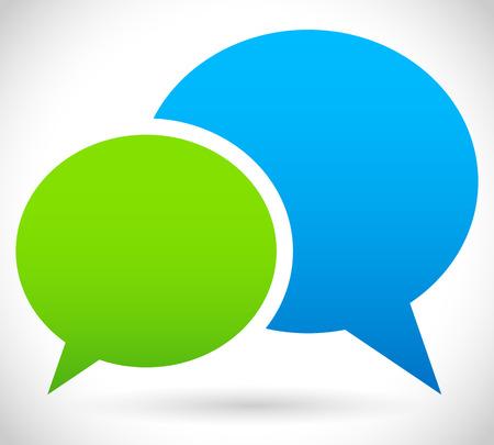 Two overlapping speech Standard-Bild