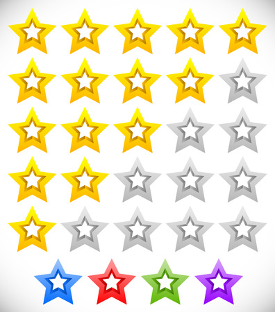 good judgment: Star rating system with 3d stars.