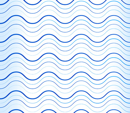 billow: Abstract background, pattern with wavy, waving blue lines.  Stock Photo
