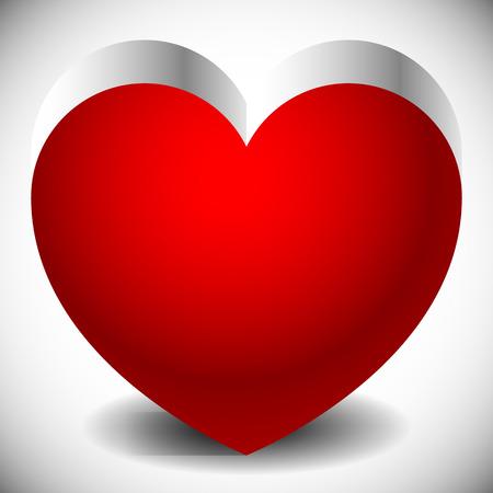 haert: Single heart with metallic 3d effect and shadows.