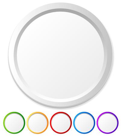 marcos redondos: Círculos, formas con el espacio vacío para iconos, logotipos, textos