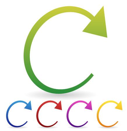 Arrow element for circulation, loop, restart concepts, vector. Stock Photo