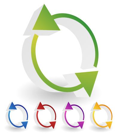 circulation: Arrow element for circulation, loop, restart concepts, vector. Stock Photo