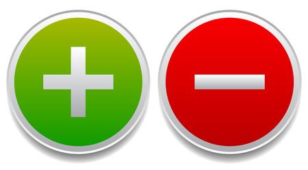 Plus and minus signs, symbols Reklamní fotografie