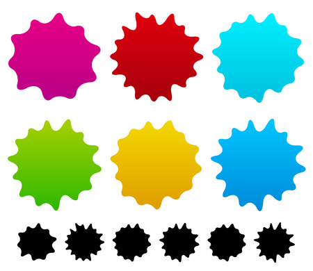 ink stain: Colorful ink stain, ink spot shapes. Vector
