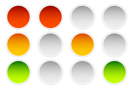 backlog: Traffic lamps, traffic lights isolated on white, vector