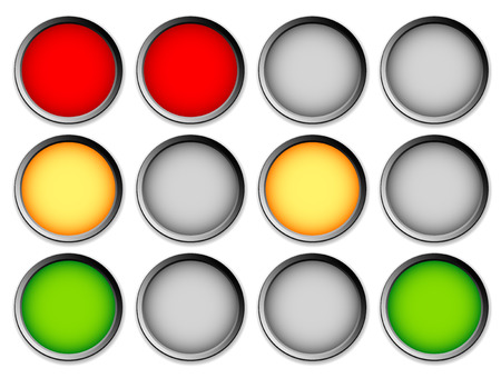 disallow: Traffic lights, traffic lamps on white, vector graphic Stock Photo