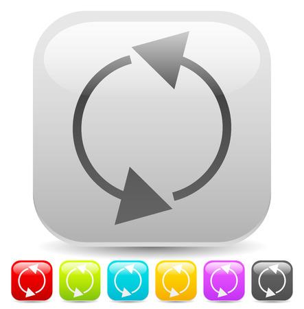 laço: Arrow elemento para a circulação, loop, conceitos de reinício, vetor.