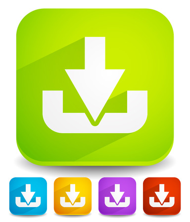Download button or icon with arrow pointing to a hard drive.