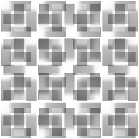 repeatable: Grayscale abstract square pattern. Seamlessly repeatable vector texture.