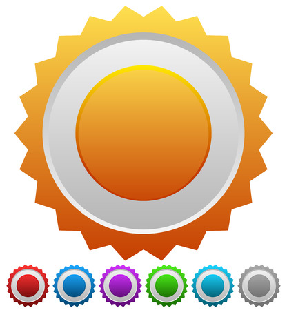 Colorful badges with blank space, vector. photo