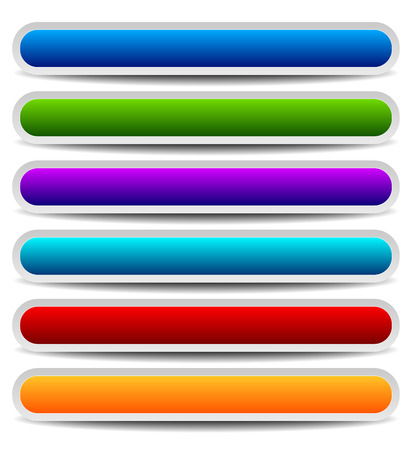 oblong: Set of bright, colorful oblong design elements. Vector graphics.