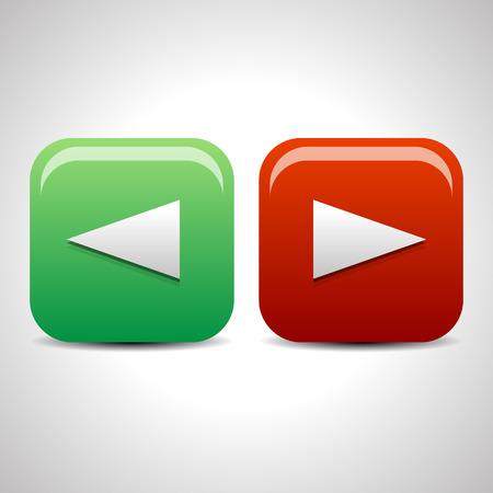 freccia destra: Sinistra e icone freccia destra, i pulsanti. Vettore.
