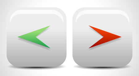 two point: Left and right arrow icons, buttons. Vector. Stock Photo