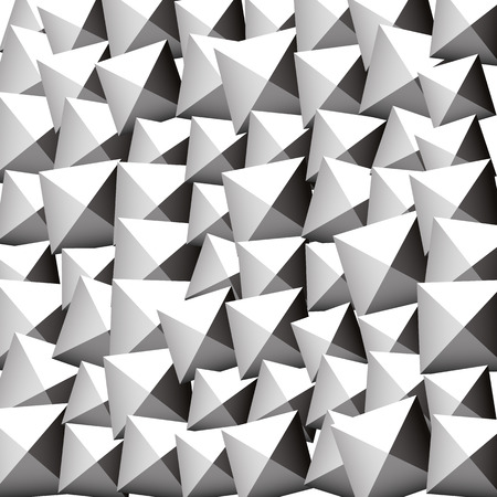 blocky: Pattern with random rotated beveled squares. Editable vector.