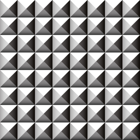 bevel: Studded, pointed background, seamless pattern. Vector. Stock Photo