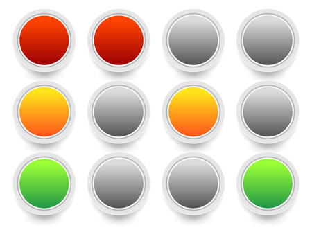 Traffic lights, Traffic lamps isolated on white. Semaphores. Stock Photo
