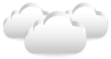 atmospheric: 3d Clouds. Overlapping cloud shapes. Eps 10 vector.