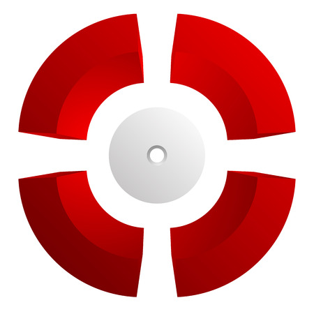reticle: Abstract cross hair, target mark (reticle) vector icon. Stock Photo