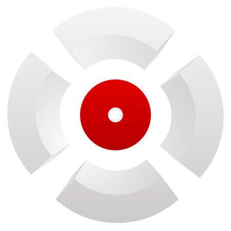 Abstract cross hair, target mark (reticle) vector icon. Stock Photo