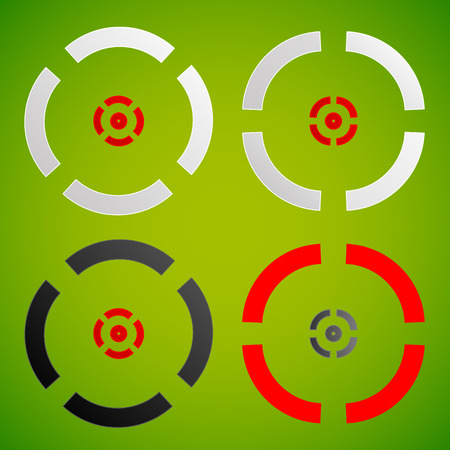 gunsight: Cross hair, reticle, target mark element(s). Vector. Stock Photo