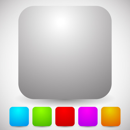 rounded: Blank rounded squares. Various colors included. Vector.