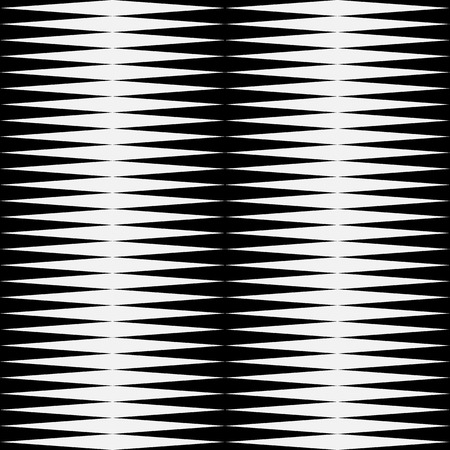 eyestrain: Black and white pattern with pointed, triangle shapes. (Repeatable) Stock Photo