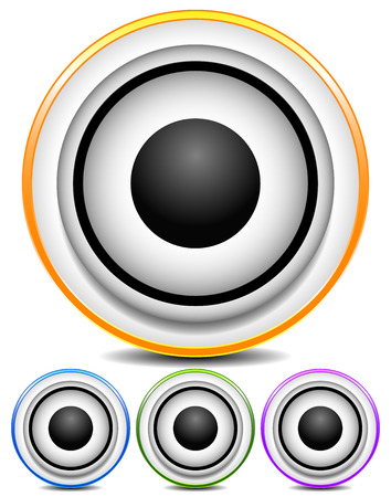 Graphics with loudspeaker for music, audio or multimedia concepts. Vector. photo