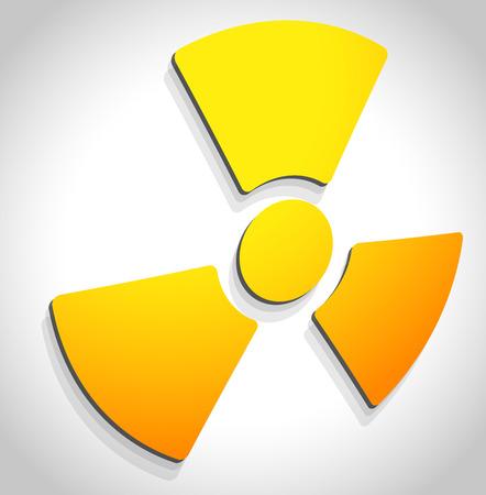 radiactividad: Radiaci�n simple, muestra la radiactividad. Ilustraci�n del vector.