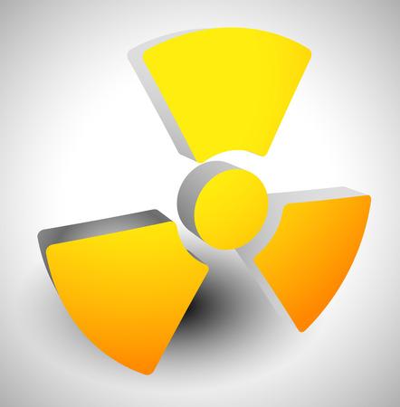uranium radioactivity: Simple radiation, radioactivity sign.  Vector illustration.