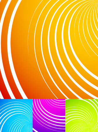 swooshes: Colorful, vibrant backgrounds with swirls, spirals, swooshes. Vector illustration.