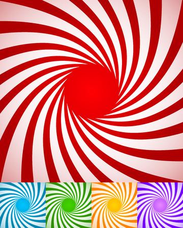 espiral: Fondos espiral abstracto, giratorios, líneas radiales retorcidos. Foto de archivo