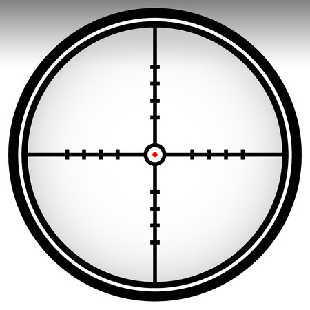 sharpshooter: Crosshair, reticle, target mark. Editable vector illustration.