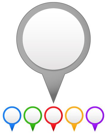 pinpoint: Set of vector map markers, with various colors