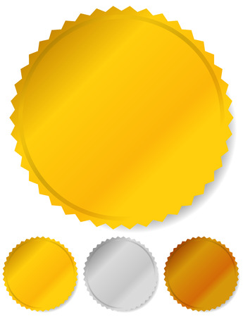 starburst: Gold, silver and bronze badges, starburst shapes. Price flashes.