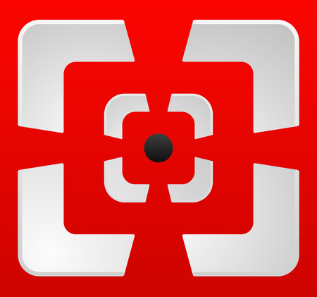 gunsight: Abstract cross hair, target mark (reticle) vector icon. Stock Photo
