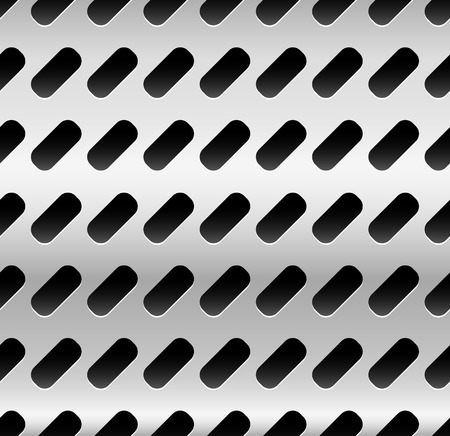 dimples: Metal with dimples, holes. Punched, perforated metal background. Repeatable. (metallic gradient) Stock Photo