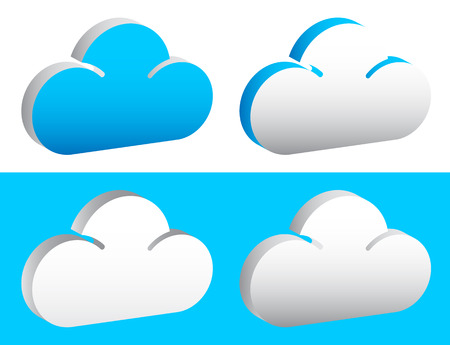 humidity: Editable cloud shapes vector graphics. Eps 10. Stock Photo